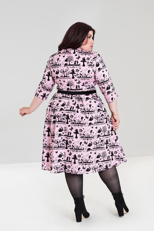 Hell Bunny Anderson 50's Dress in Pink
