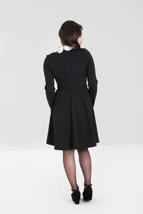 Hell Bunny Ricci Dress in Black