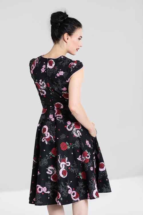 Hell Bunny Python Rose 50's Dress