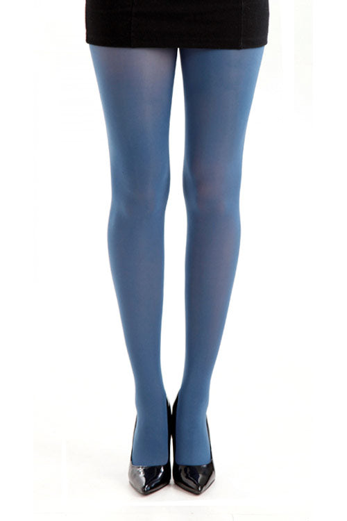 Pamela Mann Hosiery 50 Denier Opaque Pantyhose in Blue (Denim)