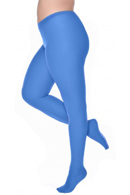Pamela Mann Hosiery Curvy Super-Stretch 50 Denier Tights in Cobalt Blue