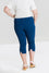 Hell Bunny Tina Stretchy Capri Pants in Navy