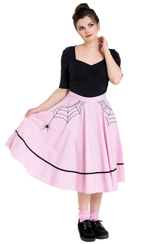 Hell Bunny Miss Muffet 50's Skirt in Pink