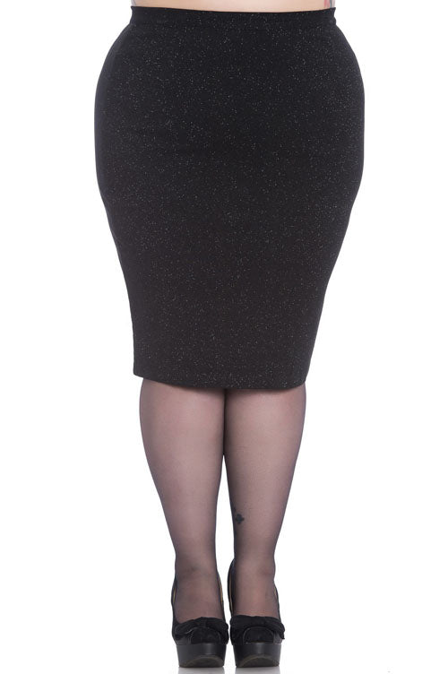 Hell Bunny Nebula Pencil Skirt