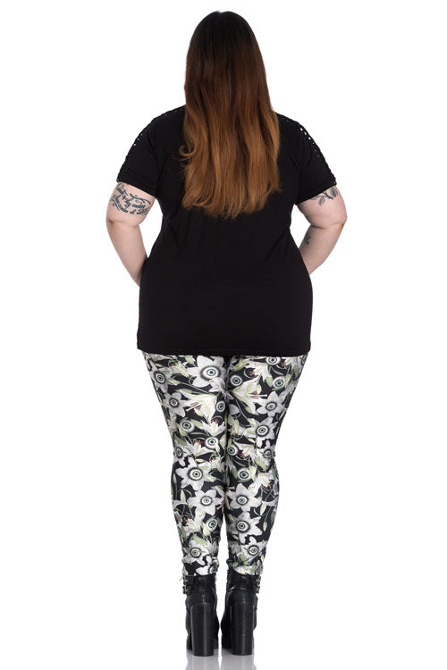 Hell Bunny Peepers Leggings