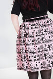 Hell Bunny Anderson 50's Skirt in Pink
