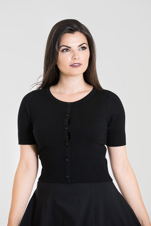 Hell Bunny Wendi Cardigan in Black