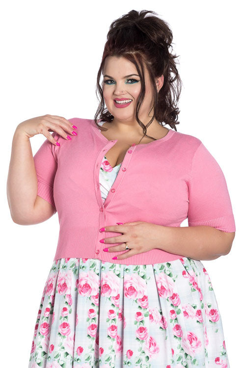 Hell Bunny Wendi Cardigan in Candy Pink