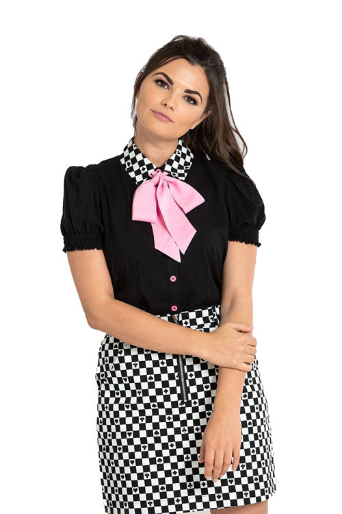 Hell Bunny Pokerface Blouse