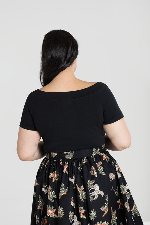 Hell Bunny Alex Top in Black