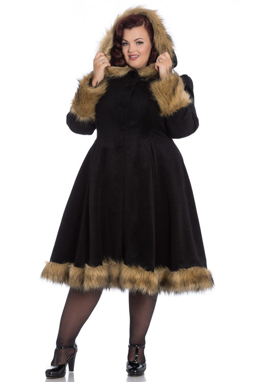 Hell Bunny Isadora Coat in Black