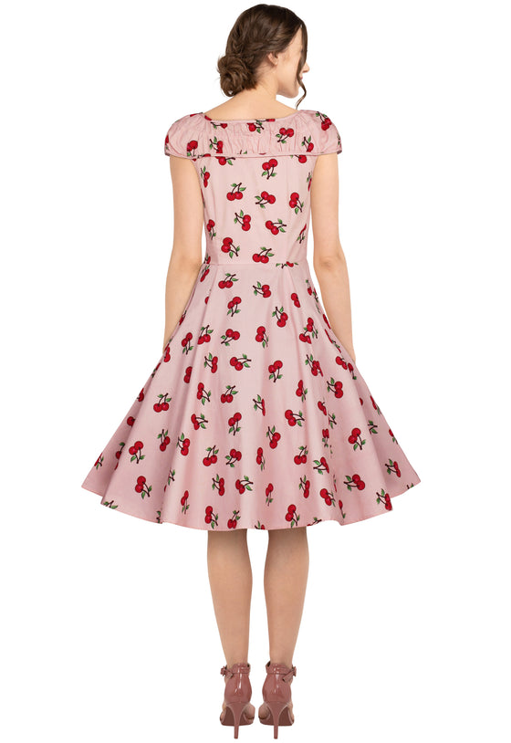 Chicstar Winifred Dress in Pink Cherry