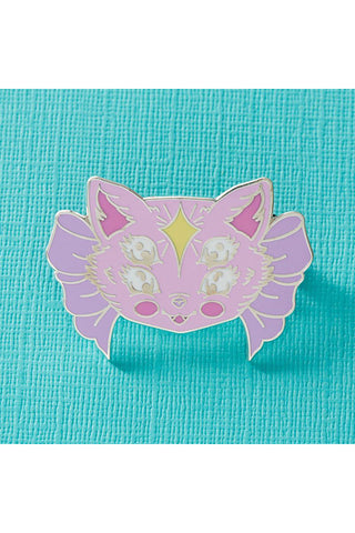 Punky Pins Two Eyed Freaky Kitty Enamel Pin