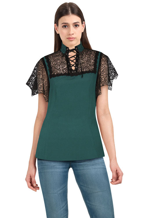 Chicstar Batty Top in Green