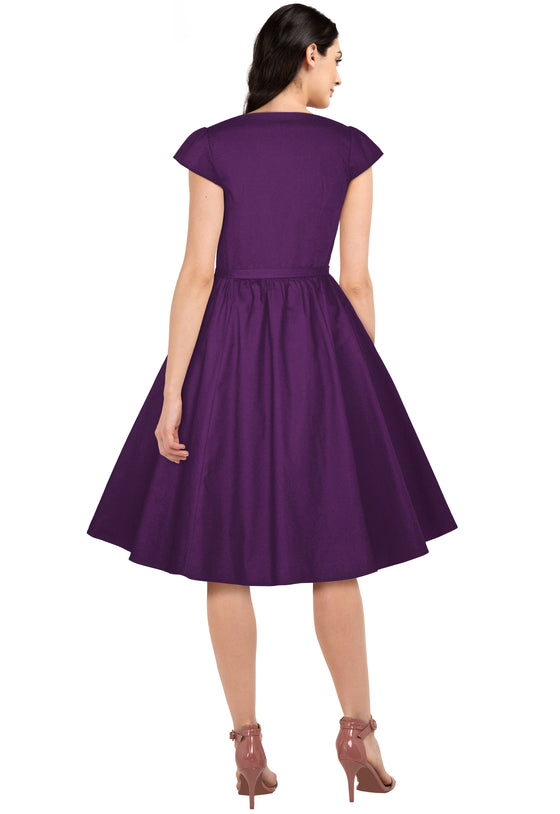 Chicstar Pleated Dress in Purple