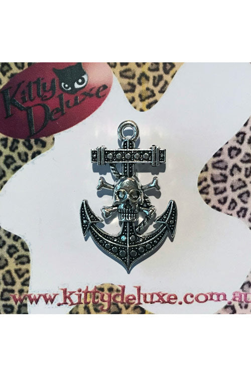 Kitty Deluxe Broochlette Brooch in Skull Anchor