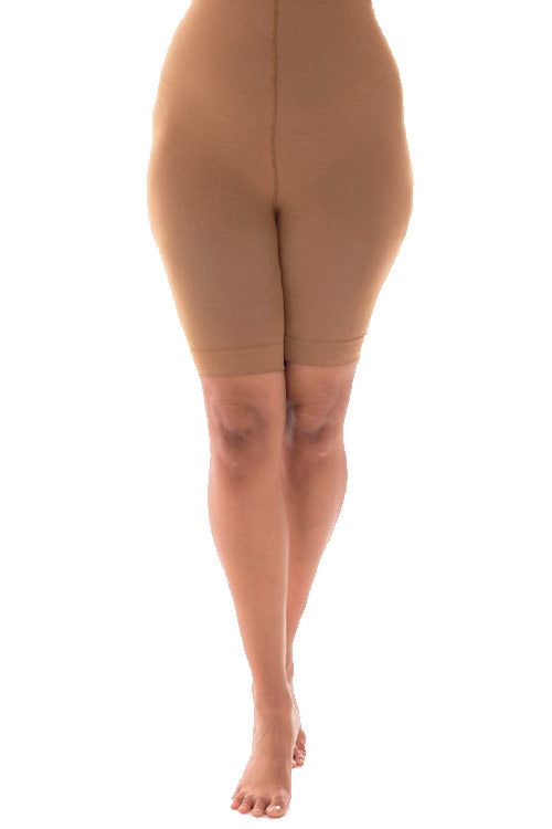Pamela Mann Hosiery Curvy Super-Stretch Anti Chafing Shorts 90 Denier Tights in Nude