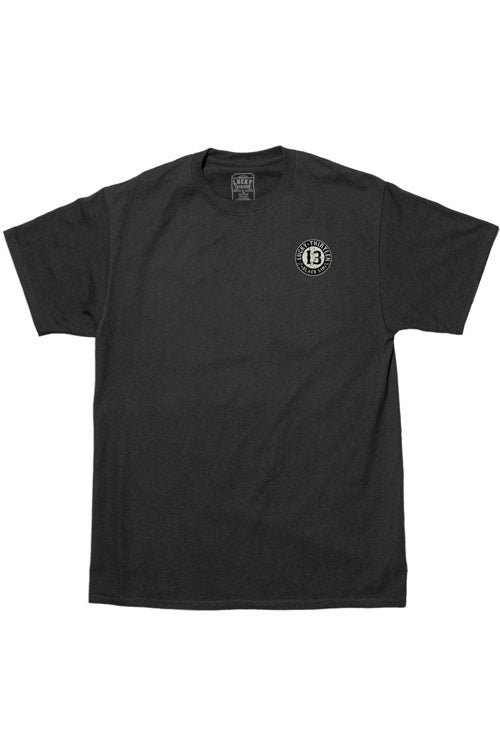 Lucky 13 Mens Black T-Shirt in Black Sin