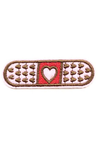 Kitty Deluxe Iron on Patch of Mini Heart 'Bandaid'