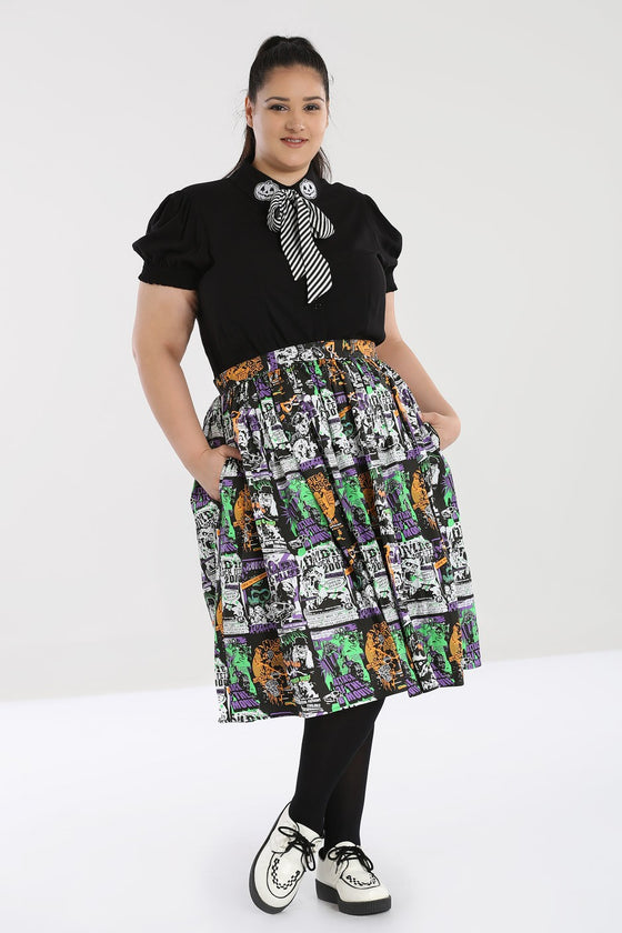 Hell Bunny Be Afraid 50's Skirt