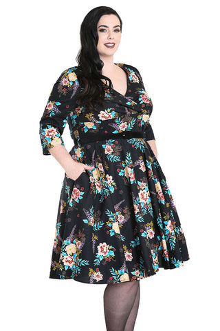 Hell Bunny Blue Bell 50's Dress