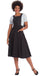 Banned Book Smart 50's Length Pinafore Dress in Black