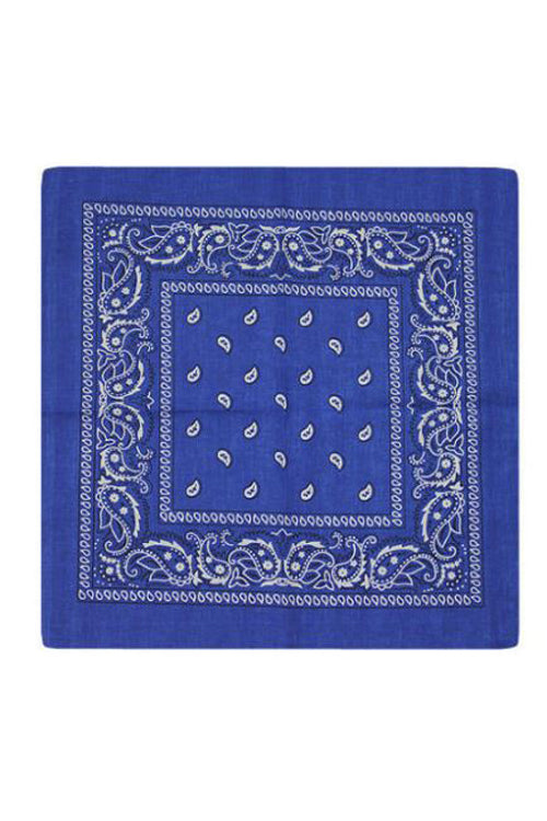 Kitty Deluxe Cotton Bandana in Royal Blue Paisley