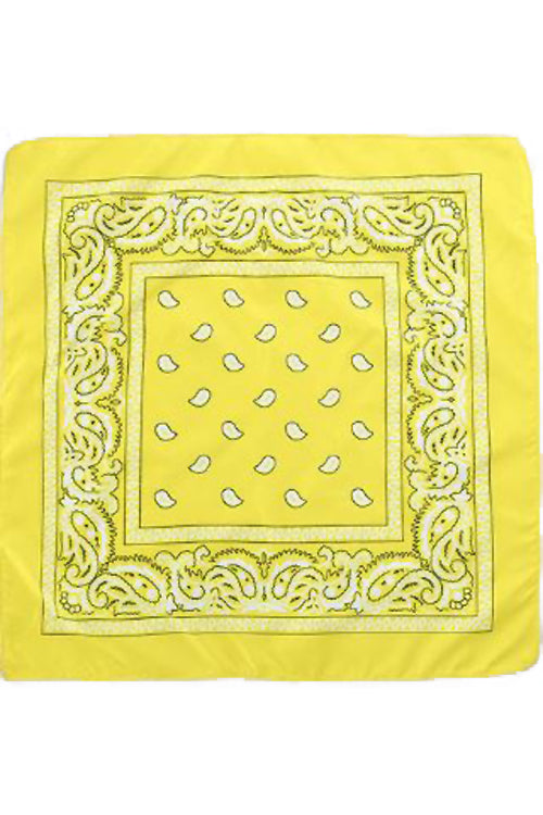 Kitty Deluxe Cotton Bandana in Yellow Paisley