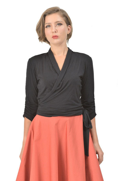 Dolly & Dotty Ceri Retro Wrap-Around Top