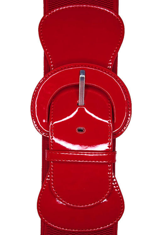 "Kitty Deluxe 3"" Cinch Belt in Ruby"
