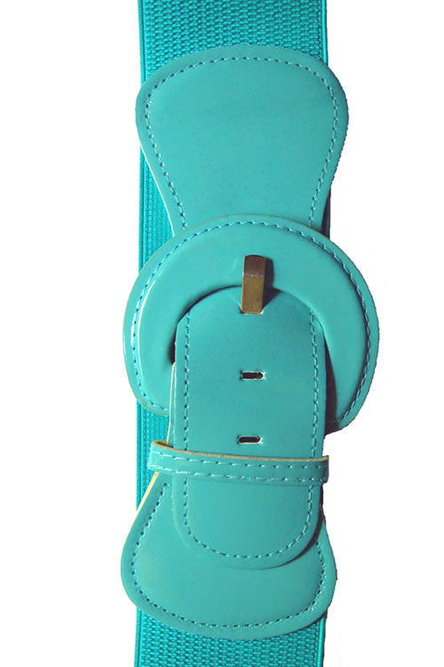 "Kitty Deluxe 3"" Cinch Belt in Aqua"