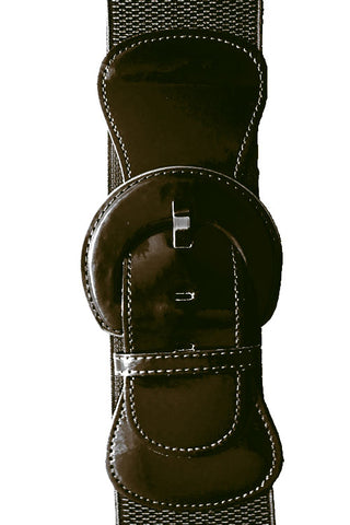 "Kitty Deluxe 3"" Cinch Belt in Black"
