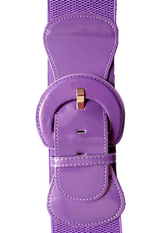 "Kitty Deluxe 3"" Cinch Belt in Grape"
