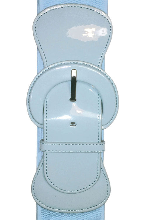 "Kitty Deluxe 3"" Cinch Belt in Light Blue"
