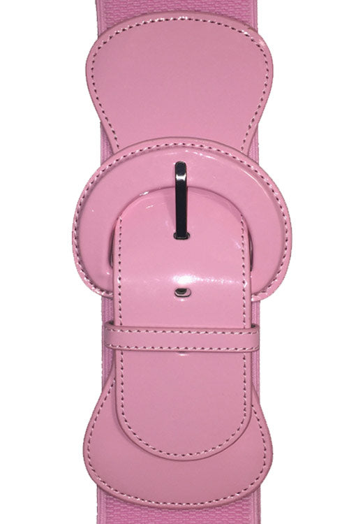 "Kitty Deluxe 3"" Cinch Belt in Light Pink"