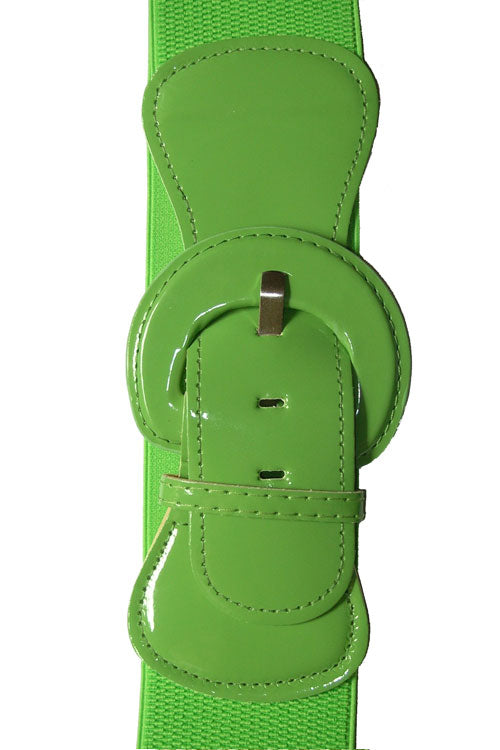 "Kitty Deluxe 3"" Cinch Belt in Lime"
