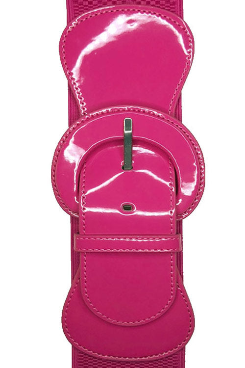 "Kitty Deluxe 3"" Cinch Belt in Magenta"