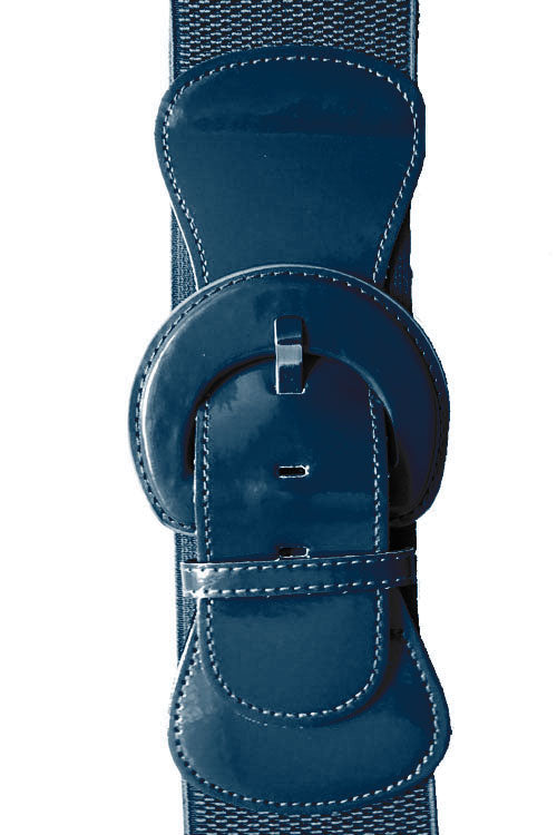 "Kitty Deluxe 3"" Cinch Belt in Navy"