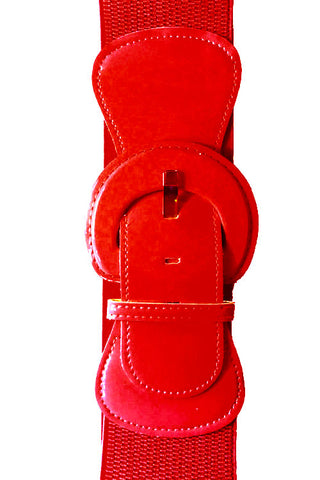 "Kitty Deluxe 3"" Cinch Belt in Red"