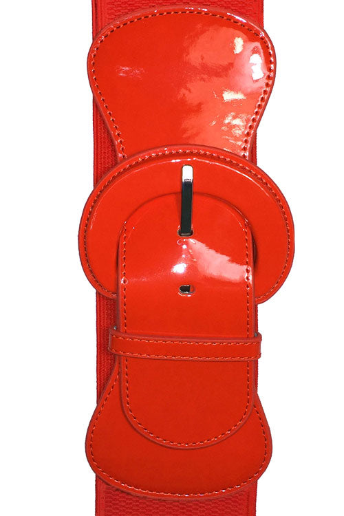 "Kitty Deluxe 3"" Cinch Belt in Tangerine"