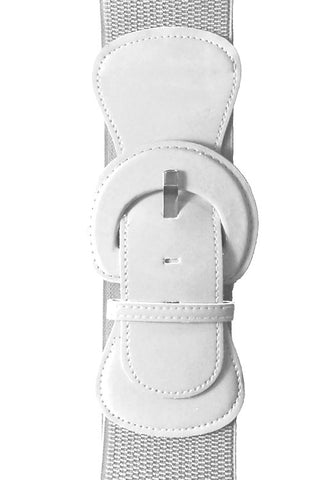 "Kitty Deluxe 3"" Cinch Belt in White"