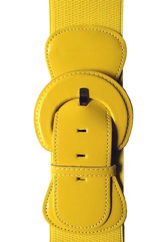 "Kitty Deluxe 3"" Cinch Belt in Yellow"
