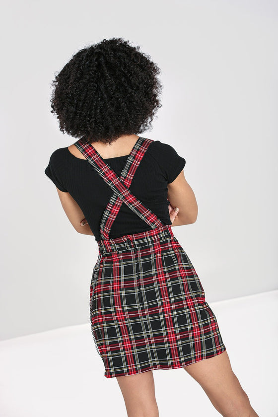 Hell Bunny Clash Pinafore Dress