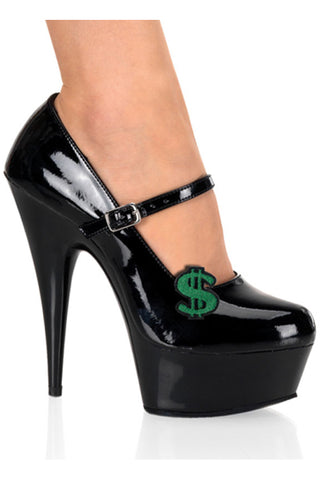 Pleaser USA Shoe Clip Pair in Dollar Signs