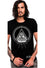 Dr Faust Mens Black T-Shirt in Cody Illuminati Eye