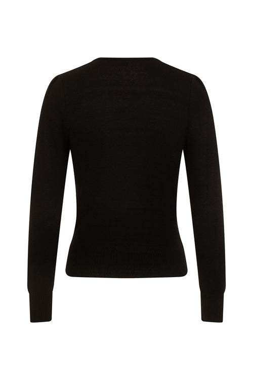 Hell Bunny Connie Jumper in Black