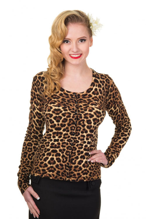 Banned Crazy Love Cardigan in Leopard