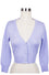 MAK Sweaters Cropped Cardigan with 3/4 Sleeves in Lilac