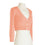 MAK Sweaters Cropped Cardigan with 3/4 Sleeves in Peach