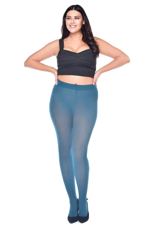 Pamela Mann Hosiery Curvy Super-Stretch 50 Denier Tights in Dark Teal